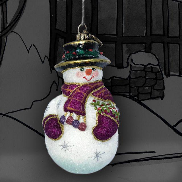 3838/2 Снеговик-джентельмен